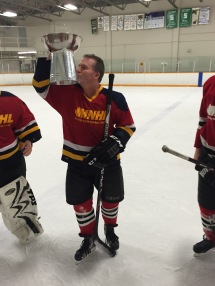 Chris kisses the cup
